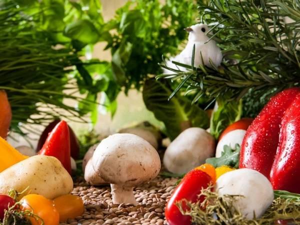 vegeterianer, mat, muskler, vegetarianer, og, kroppsbygger
